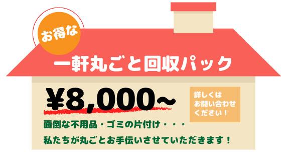一軒丸ごと回収パック 8000円~
